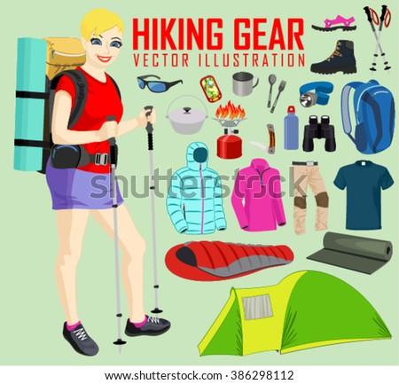 Female Hiker Clipart