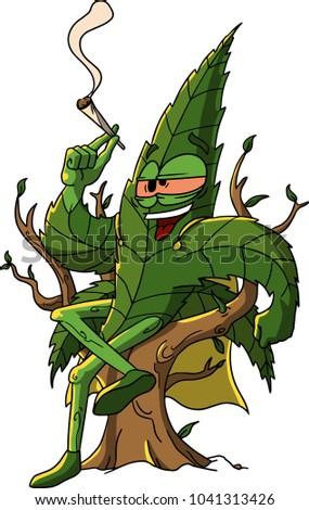 hilariuos marijuana leaf
