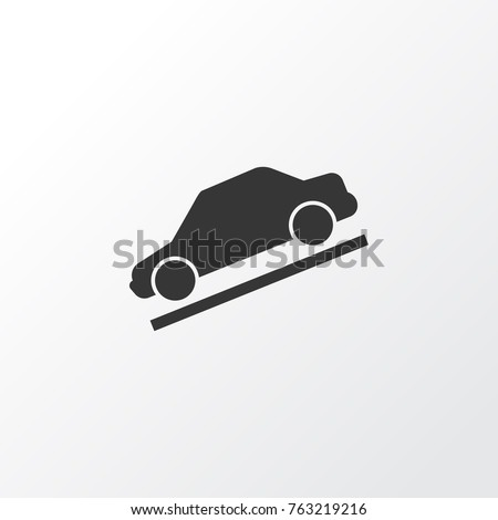 Hill descent icon symbol. Premium quality isolated control element in trendy style.