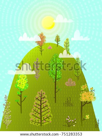 hill or mountain summer with