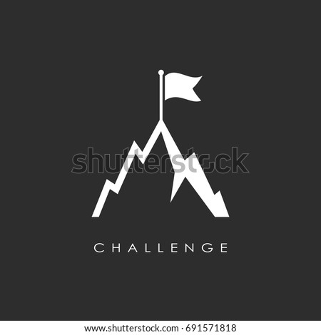 hill top vector icon  challenge