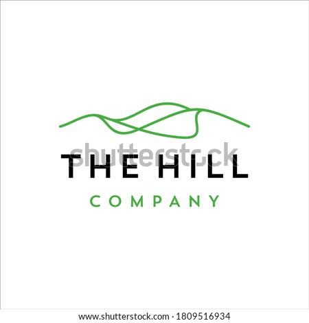 Hill with minimalist line design Сток-фото ©