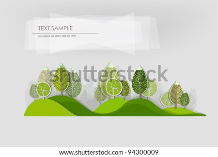 hills and forest background