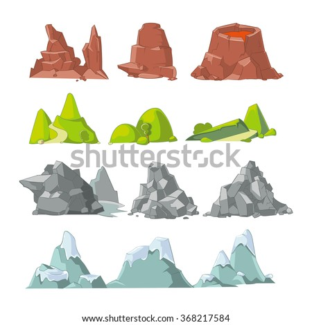 hills and mountains cartoon