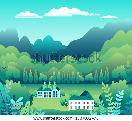 hills and mountains landscape