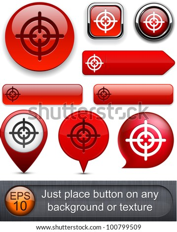 Hindsight web red buttons for website or app. Vector eps10. - stock vector
