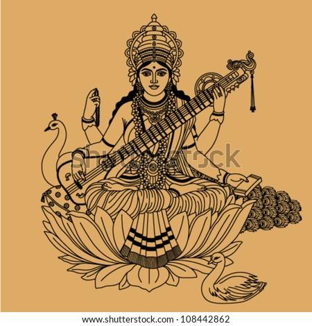 hindu goddess of wisdom and