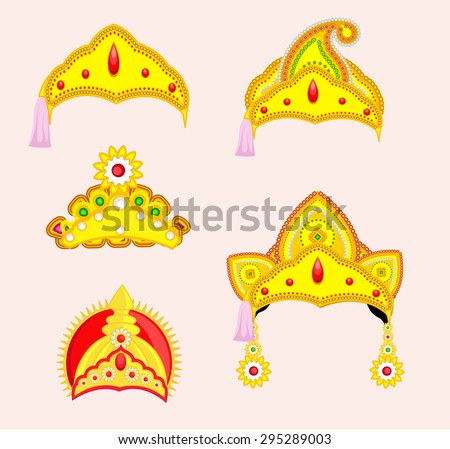 Hindu Mythological God's Crown Designs Stock photo ©