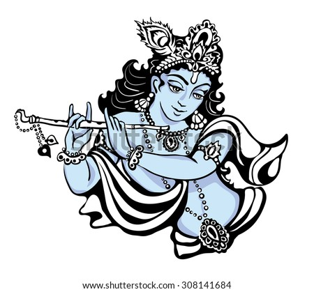 hindu young god lord krishna