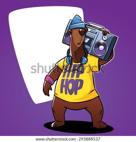 hip hop bear character