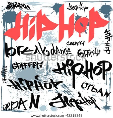 hip hop graffiti vector urban background