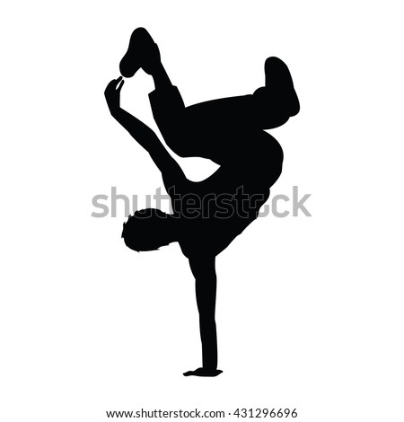 hip hop man dancer vector