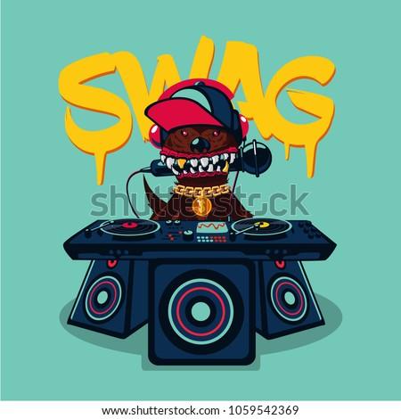 hip hop poster with dog rap
