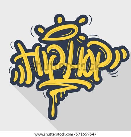 hip hop tag graffiti style