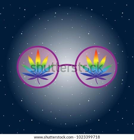 hippie glasses with iridescent