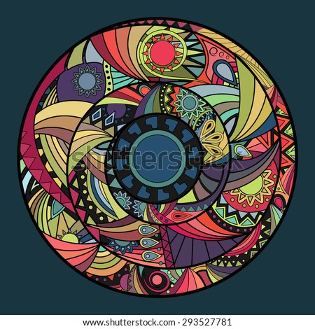 hippie mandala circle ornament