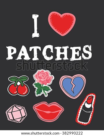 hippie patches collection
