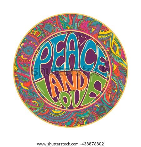 hippie style ornamental retro
