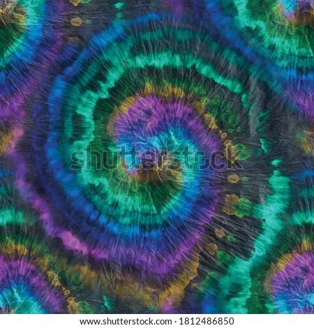 Hippie Tie Dye Swirl. Vector Psychedelic Boho. Multi Tie Dye Batik. Spiral Dyed Tie Dye. Multi Gradient Circle. Seamless Dirty Pattern. Colored Tie Die. Oil Swirl Circle. Vector Psychedelic Background