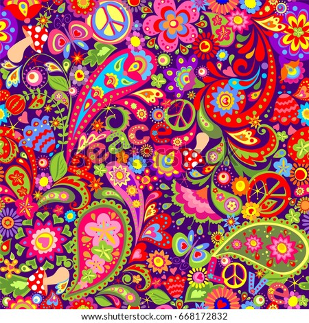 hippie vivid wallpaper with