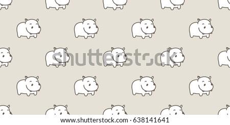 Hippo / Baby hippo / hippopotamus Seamless Pattern / background / wallpaper
