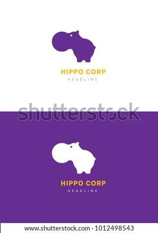 Hippo corporation logo template.