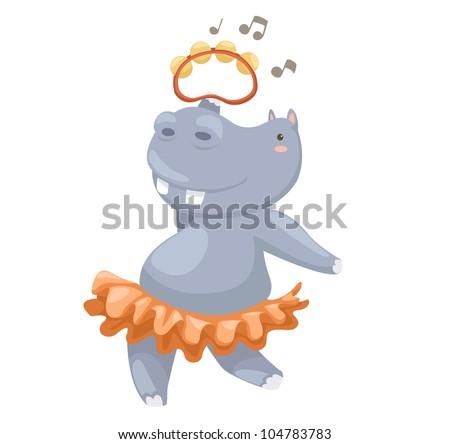 hippo vector illustration on a