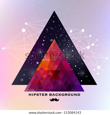 hipster background made of