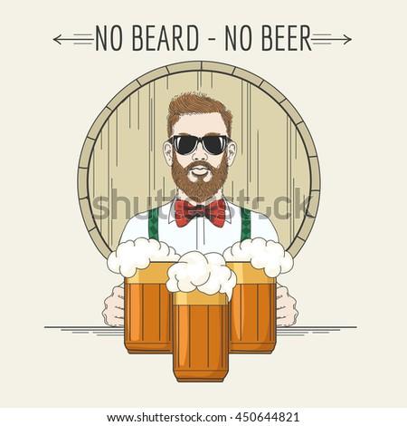 hipster bartender with beer