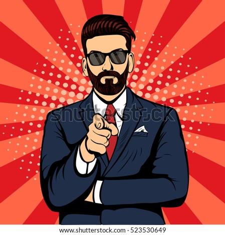 hipster beard businessman