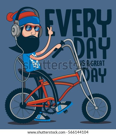 hipster  bicycle vector design