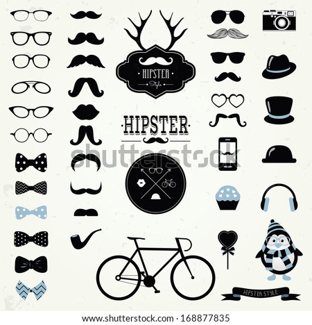 hipster black and white retro...