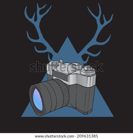 hipster camera isolated on
