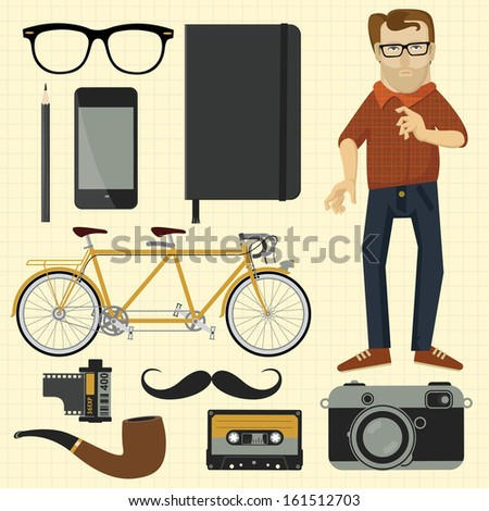 Hipster Design Elements Hipster Design Elements
