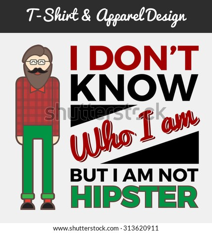 hipster character and
