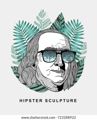 hipster classical sculpture