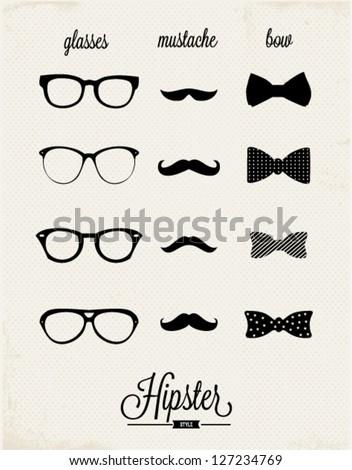 Hipster design set - stock vector