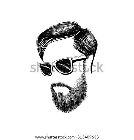 hipster fashion man hair and