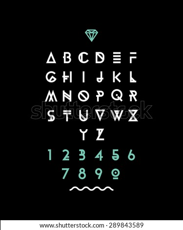 hipster font  typeface