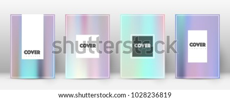 Hipster fresh template for Brochure, Annual Report, Magazine, Poster, Corporate Presentation, Portfolio, Flyer. Amusing pastel hologram cover page.