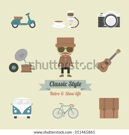 hipster gadget  retro and