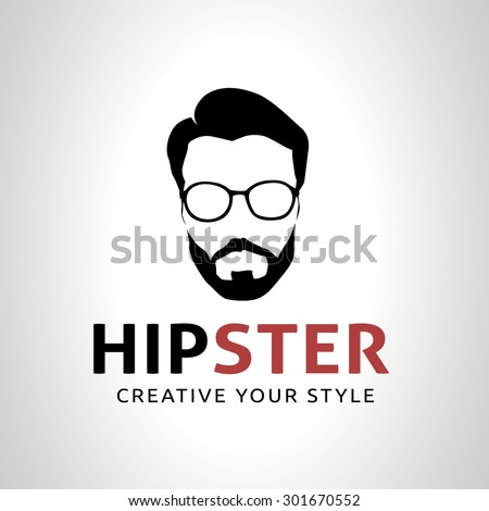 Vector Images Illustrations And Cliparts Hipster Geek Logo Template For Barber Shop Hqvectors Com