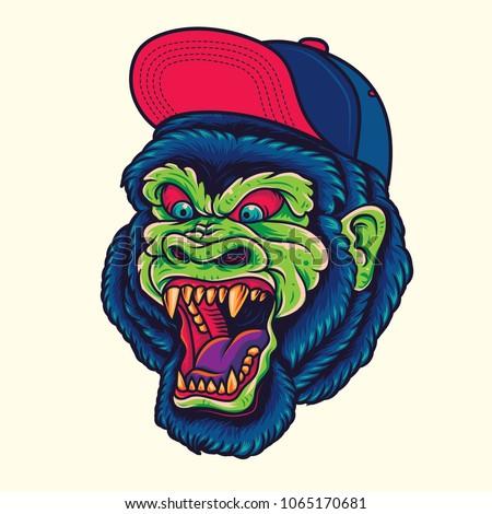 stock-vector-hipster-gorilla-king-kong-head-old-school-tattoo-illustration