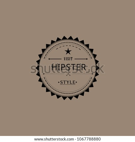 hipster icon hipster vector symbol sign retro classic style set banner old logo label arrow badge shop vintage seal name text brand sticker logo