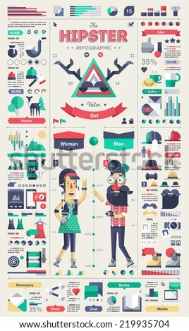 hipster infographic elements