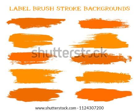 hipster label brush stroke