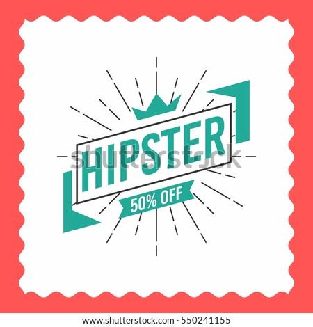 Hipster logo concept