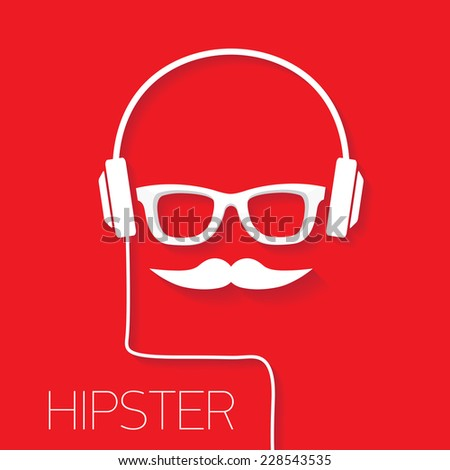 hipster man icon fashion