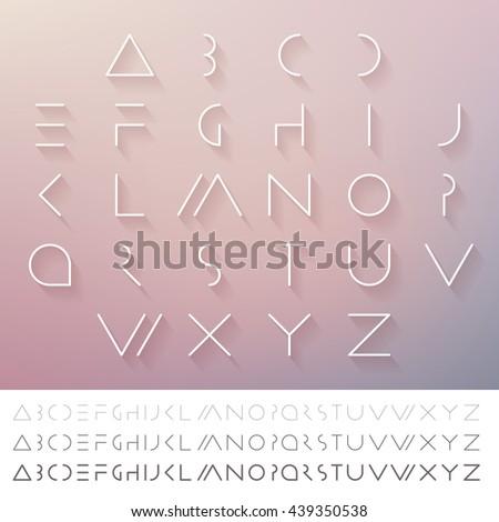hipster minimal slim alphabet