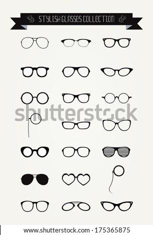 hipster retro vintage glasses...
